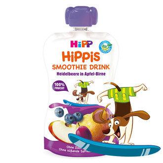 HIPP Бебешка био смути напитка ябълка и круша с боровинки